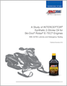 A Study of INTERCEPTOR Synthetic 2-Stroke Oil for Ski-Doo Rotax E-TEC Engines (G3039)
